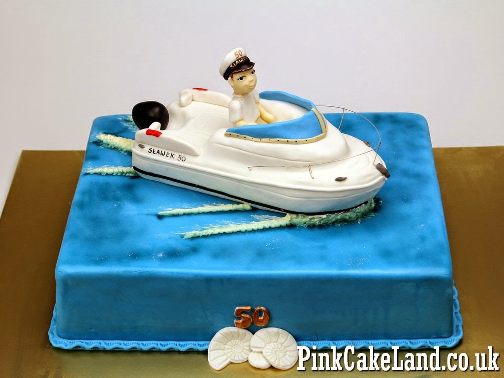 Motorboat 50th Birthday Cake in Lodnon