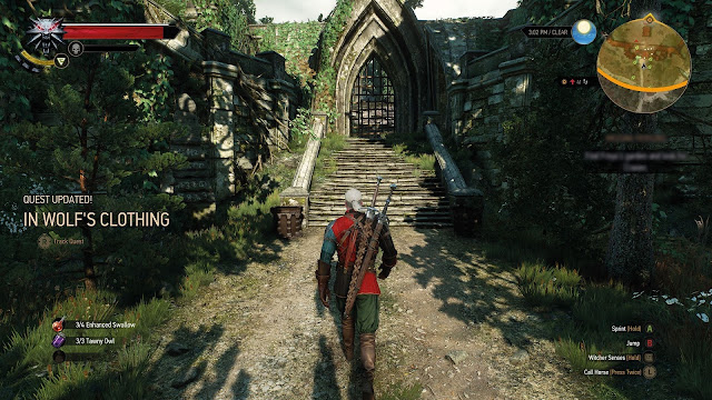 Witcher red clothes