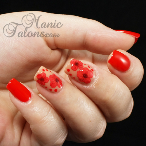 Manic talons gel polish and nail art blog an adventure with dried dried flowers nail art couture gel polish prinsesfo Gallery