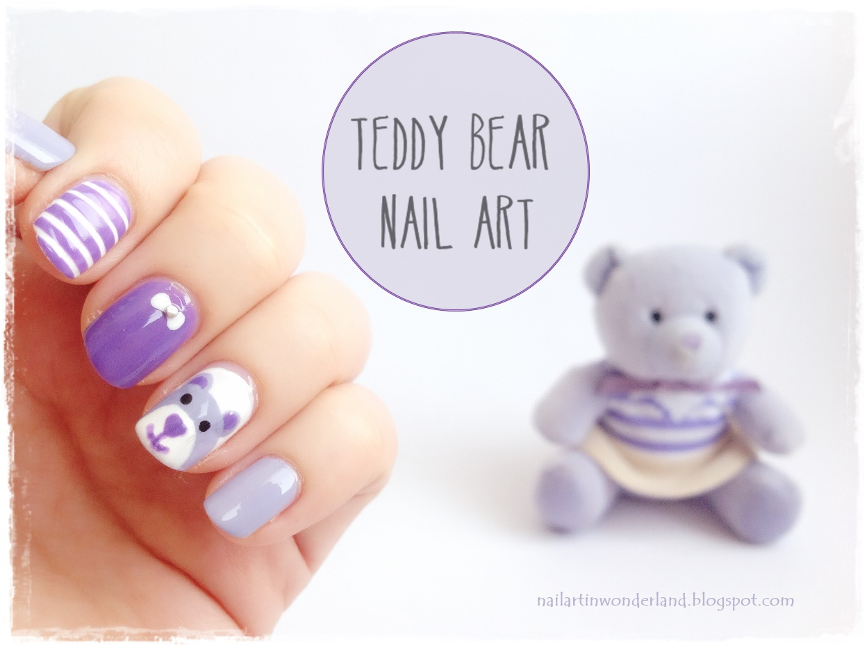 Cute Teddy Bear Nail Art - Sevimli Ayıcık Nail Art