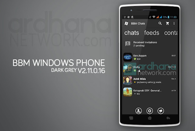 BBM Windows Phone Dark Grey