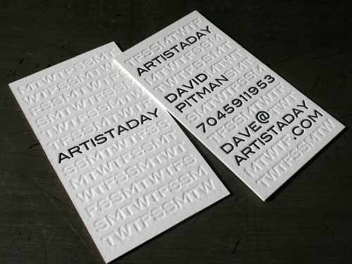 200 great letterpress business card examples mow design graphic 40 letterpress business cards that spell elegance reheart Images
