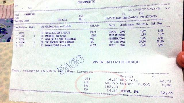 Vai pagar com quê? Real, Peso, Guarani, Dólar ou Euro?