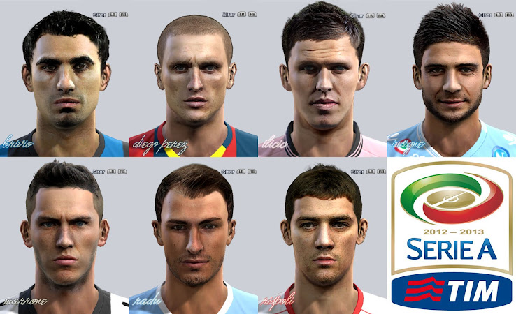 PES 2012 Serie A Facepack by el yorugua