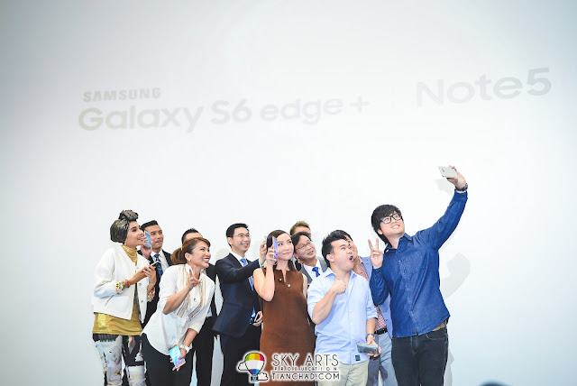 Samsung GALAXY Note 5 Launch in Malaysia (Sunway Pyramid)  Samsung KOL taking selfies at the Note 5 media launch