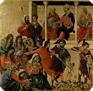 Duccio di Buoninsegna, Masacre de los inocentes