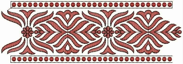 mode borduurwerk masjien Kant grens