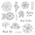 CTMH's December Stamp of the Month - Thoughtful Flowers (S1612)
