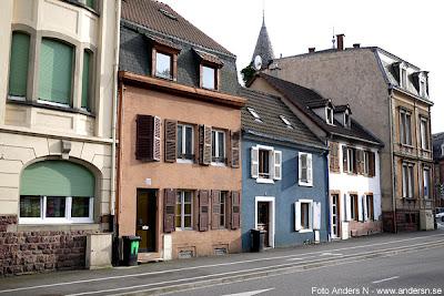 Frankrike, France, hus, house, houses, street, gata, fransk, småstad