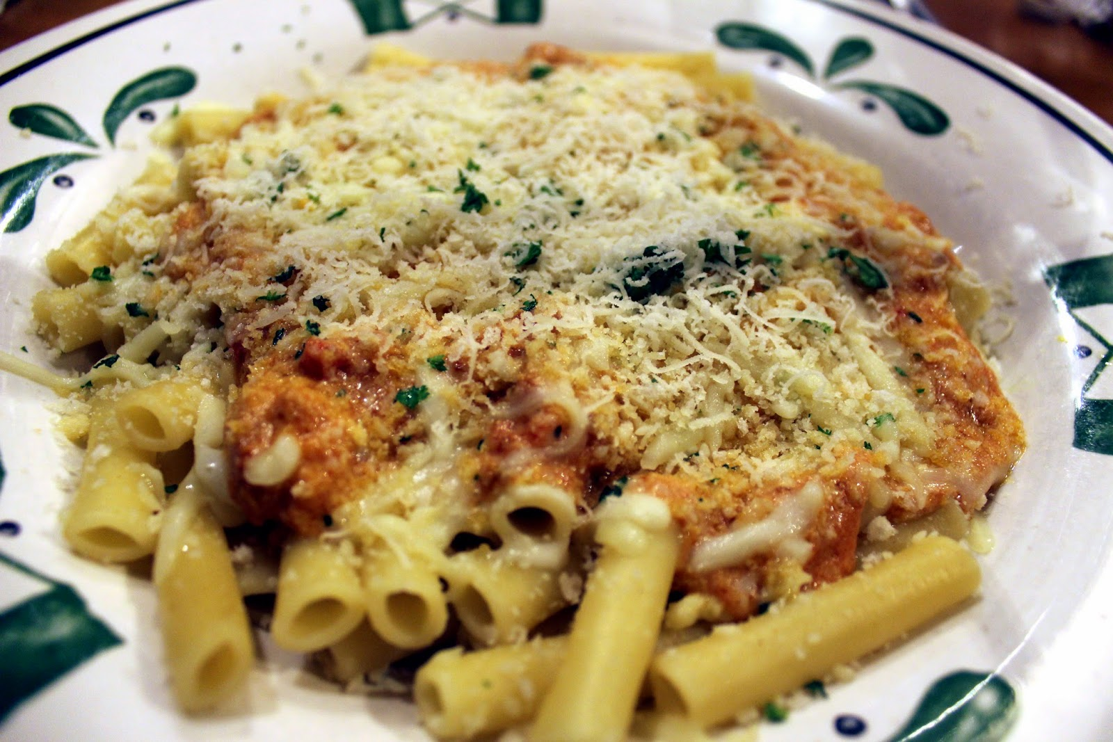 olive garden Five Cheese Ziti al Forno