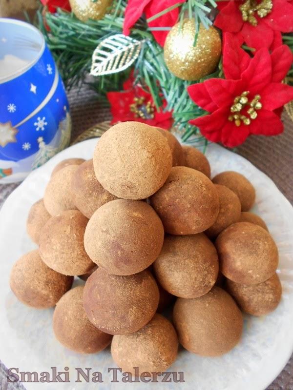 Kakaowo-pomarańczowe trufle z fasoli