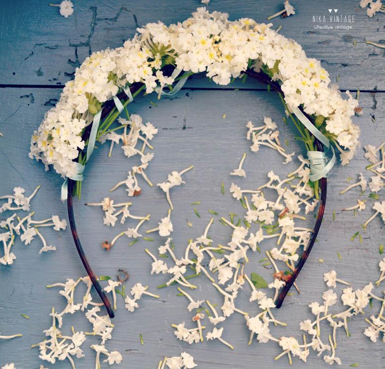 diadema de flores adorno floral diy diadema romntica hazlo tu mismo - Como Hacer Diademas De Flores