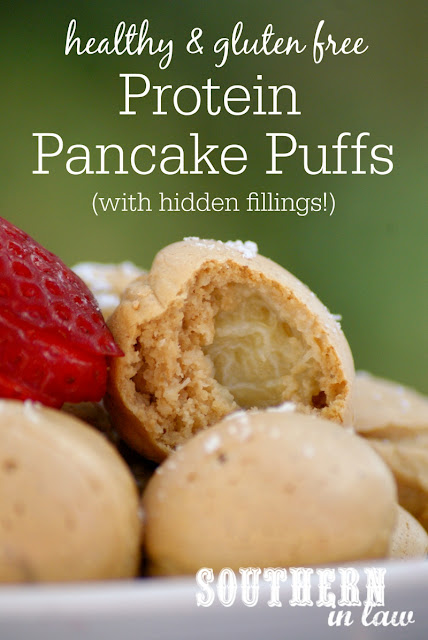 Gluten Free Protein Pancake Puffs Recipe  low fat, gluten free high protein, clean eating friendly, refined sugar free, healthy dutch pancakes recipe, healthy recipes using cake pop maker