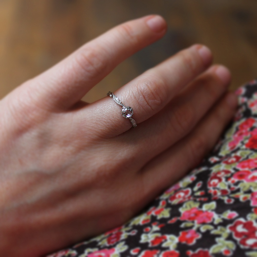 New 4mm Rose Cut Diamond Ring Artemis Russell