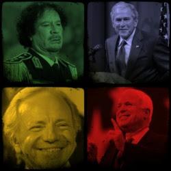 Gaddafi, Bush, McCain, Lieberman