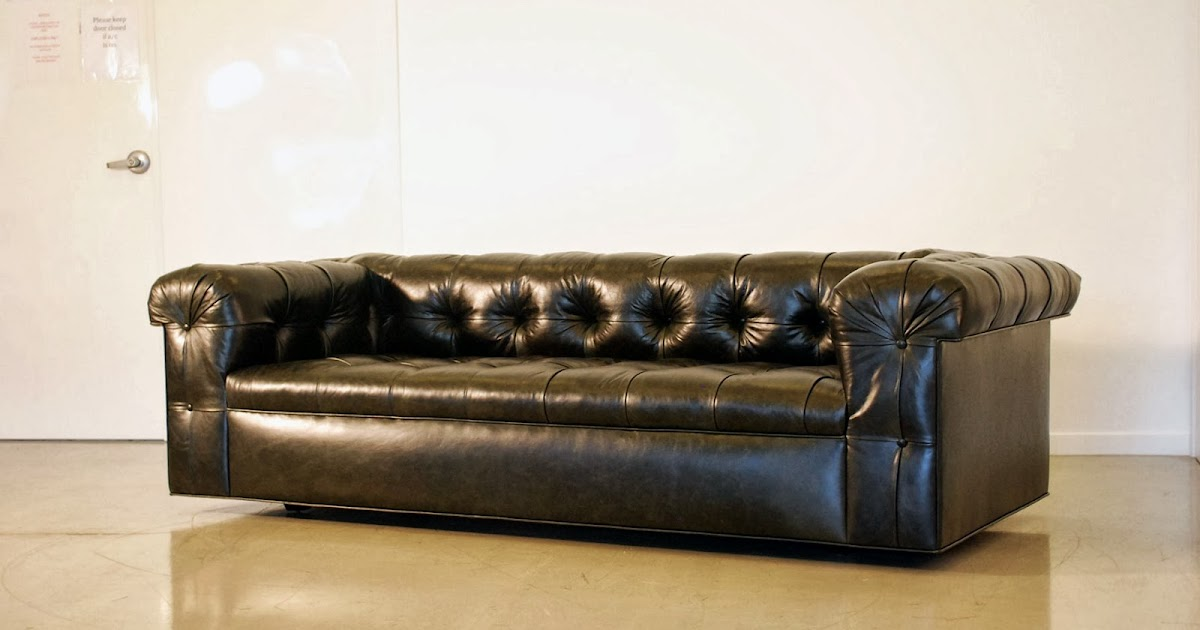 classic design Leather Chesterfield Sofa
