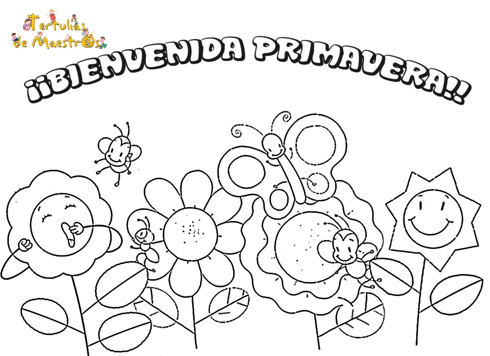 Excelente Colorear Las Vacaciones De Primavera Friso - Dibujos Para ...