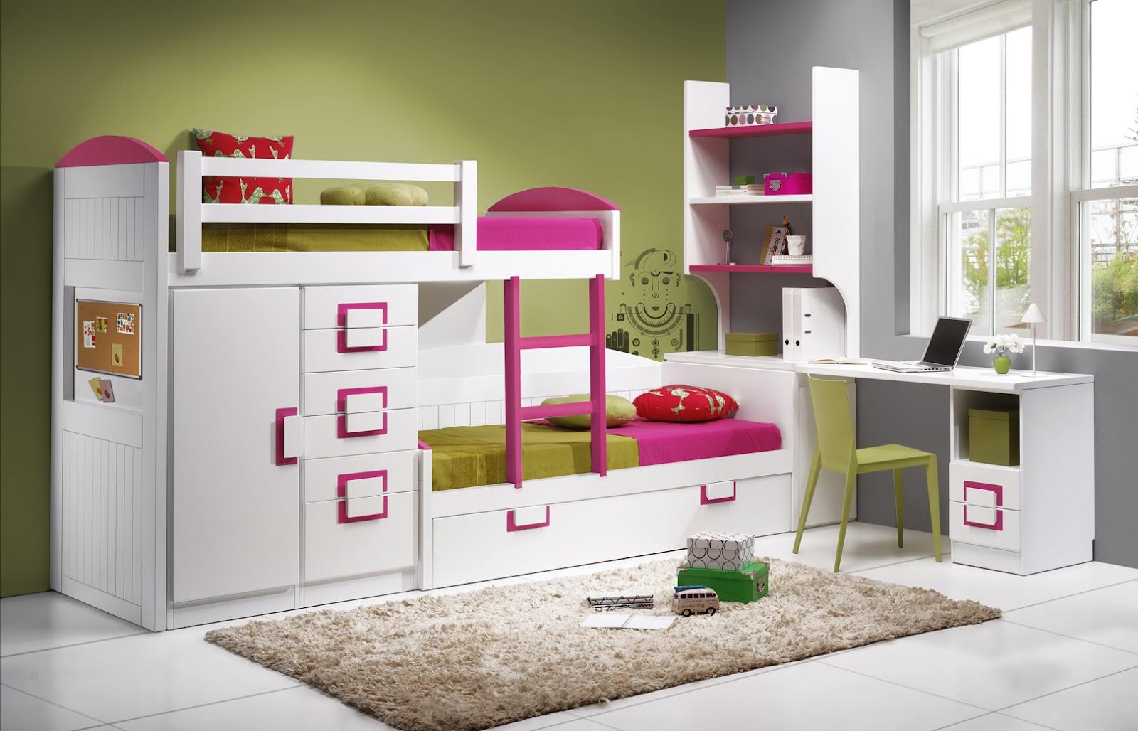 Dormitorios habitaciones juveniles e infantiles lacadas - Camas tren infantiles ...