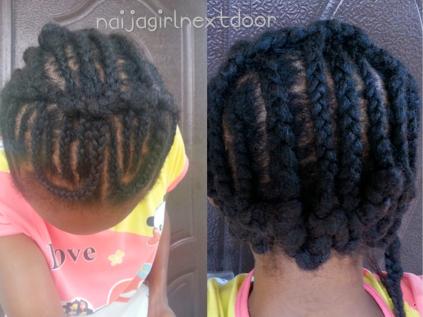 Crochet Braids No Knot Method : ... to flip between a side and a centre part so I braided accordingly