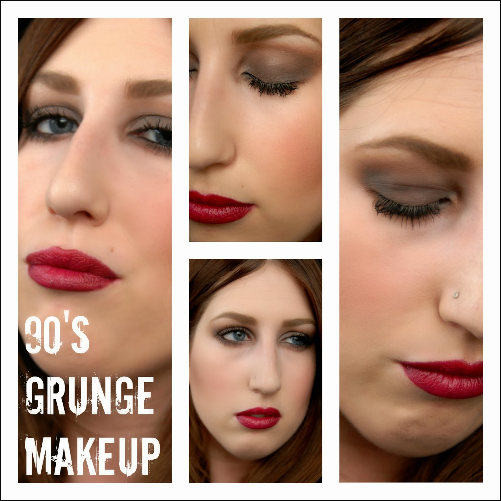 ON TREND: Modern take on 90u0026#39;s GRUNGE Makeup, Tutorial :Gussy Up!