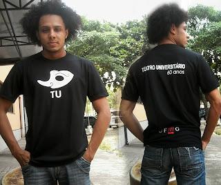 Layout final da Camisa TU Teatro Universitário 60 Anos UFMG