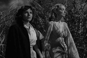 Frances Dee y Christine Gordon en Yo anduve con un zombie