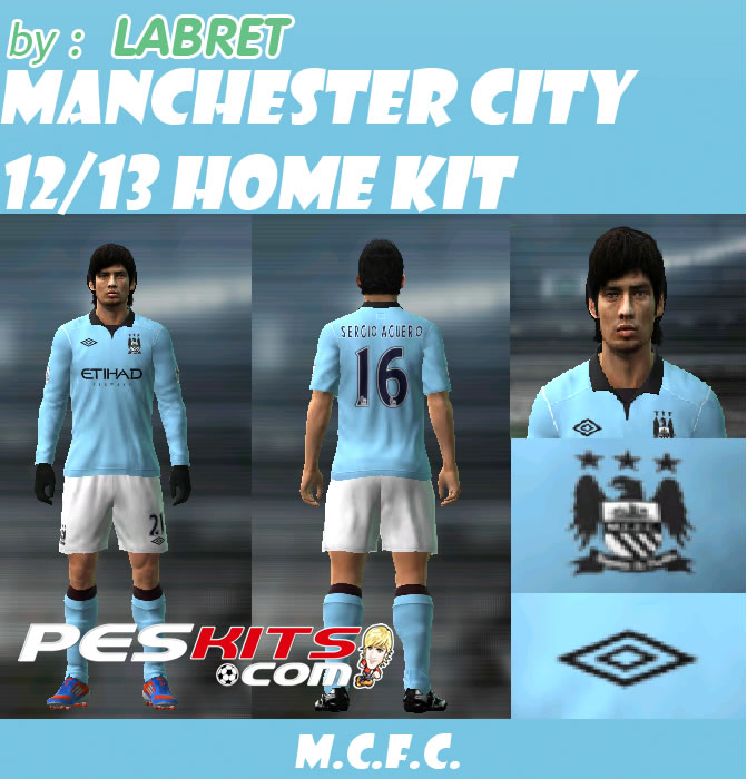 Kit Home Manchester City 2012 13 By LABRET