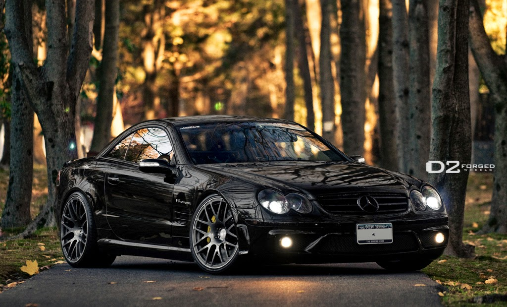 Mercedes benz r230 sl55 amg on d2forged wheels benztuning for Mercedes benz sl55 amg