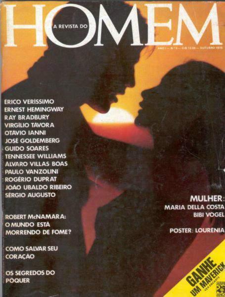 Confira as fotos de Maria Della Costa, capa da Revista Homem de outubro de 1975!