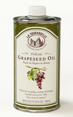 Grapeseed oil on skin