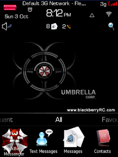 1 1111101115080 L FREE Umbrella Corp for blackberry torch 9800 theme os6.0