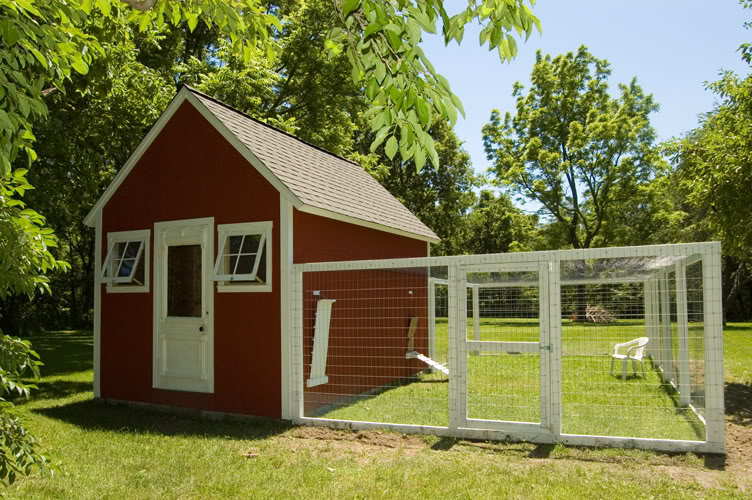 Two men and a little farm inspiration thursday red white for Large chicken house