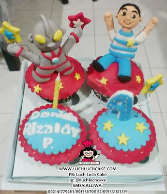 Cupcake Ultraman Daerah Surabaya - Sidoarjo