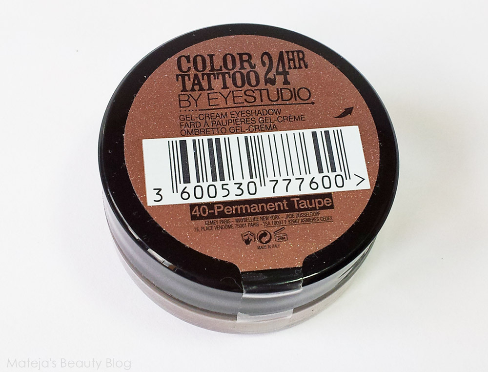 Maybelline color tattoo permanent taupe mateja 39 s beauty blog for What is taupe color look like