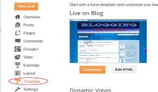 change background theme of blogger
