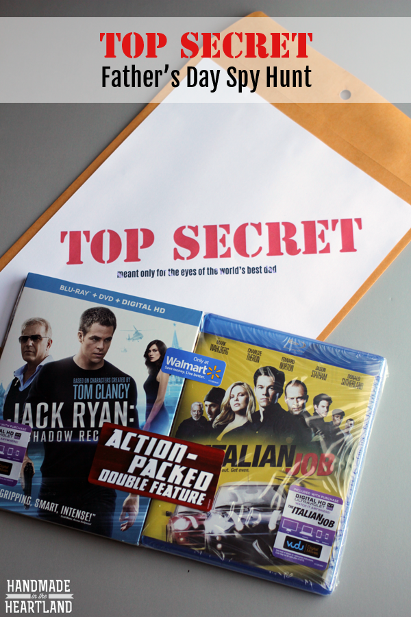 Top Secret Fathers Day Spy Scavenger Hunt with Free Printables