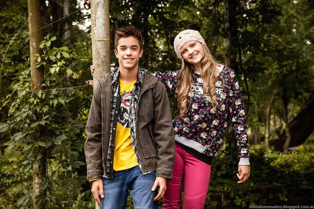 Buddies otoño invierno 2015. Camperas para teens y nenes invierno 2015.