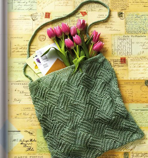 free entrelac bag knitting patterns