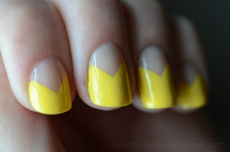 Yellow Triangle Nail Art - Zoya Pippa swatch