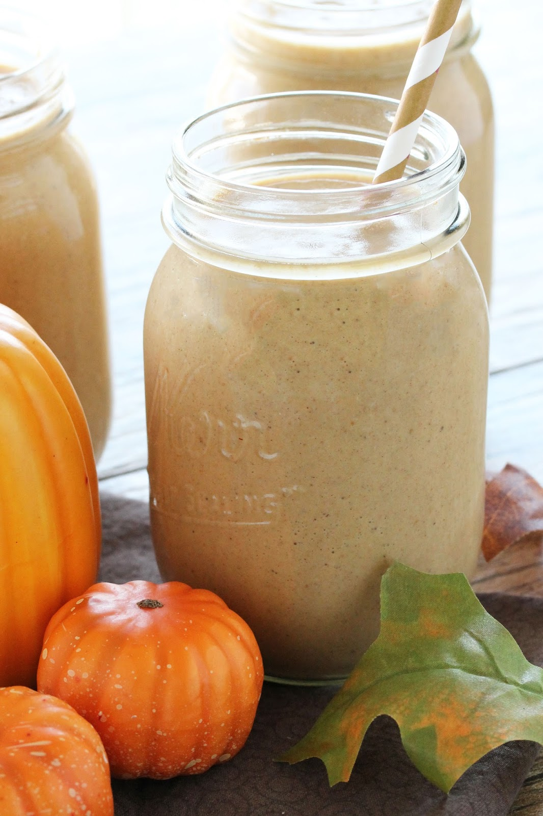 Pumpkin Pie Oatmeal Smoothies from The Stay At Home Chef 3 different ...
