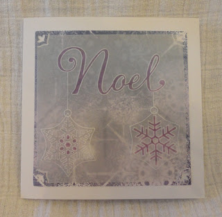 Groovi Christmas card, Noel in lilac