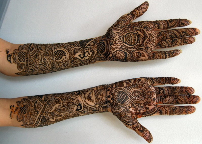 Pakistani bridal mehndi designs for hands - photo#6