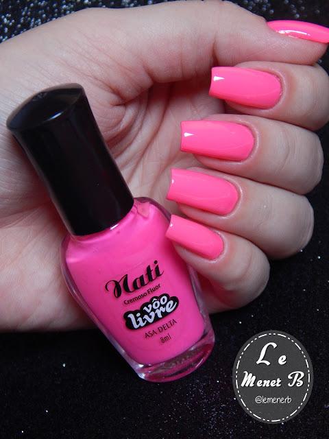 esmalte rosa neon