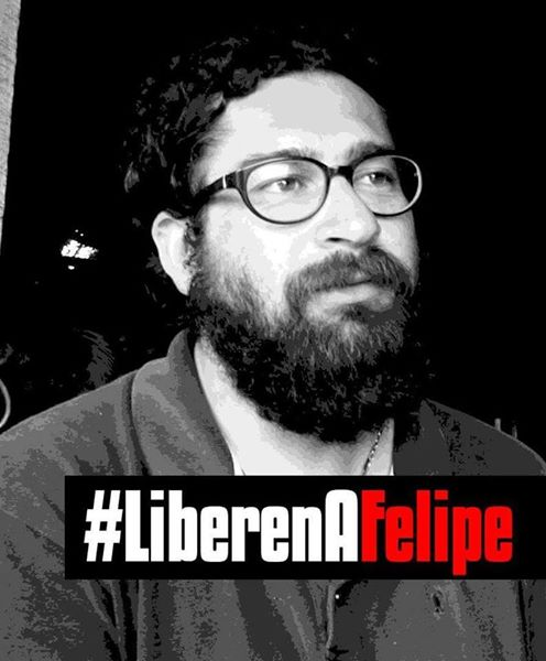 #LibertadAFelipeDurán Reportero Gráfico encarcelado en Temuco