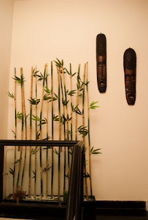 Bamboo room divider and wall decoration unit