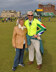 Charles and Joan at the 2010 Open Championship at St Andrews