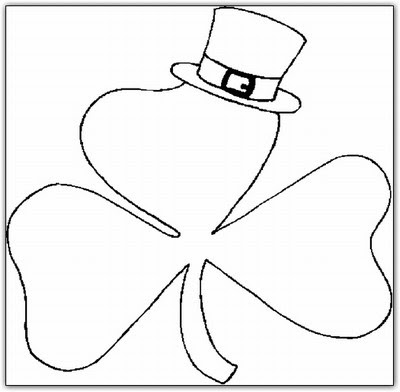 mini shamrocks coloring pages