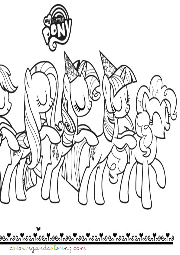coloring party my little pony