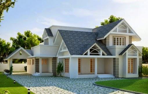 contoh gambar desain rumah modern 2015 ala eropah gambar