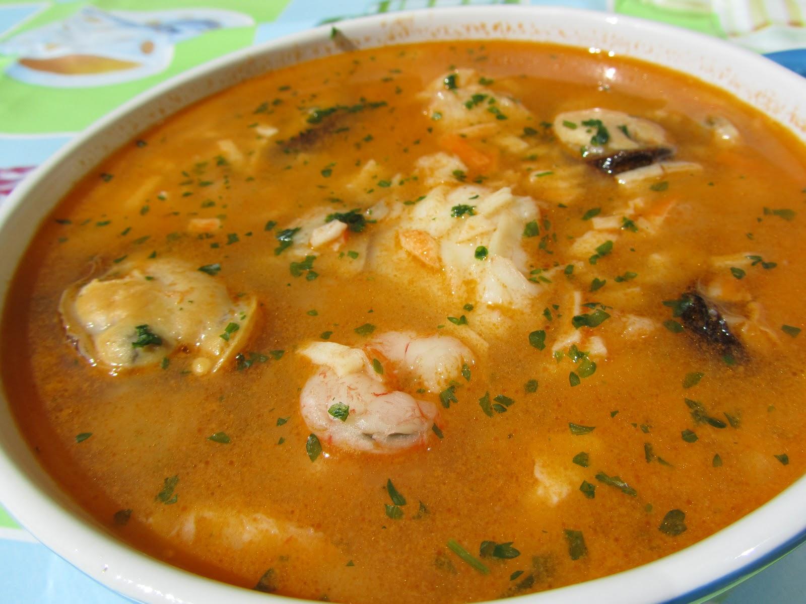 Sopa de pescado r pida thermomix - Sopa de marisco y pescado ...